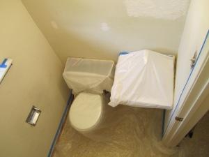 half bath paint prep