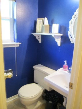 cobalt blue half bath