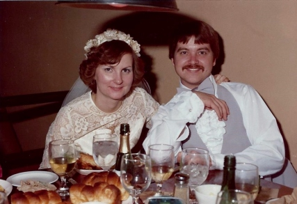 My parents at their brunch wedding reception - November 25, 1978